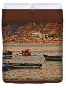 Twilight At The Beach, Miraflores, Peru Duvet Cover