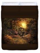 Twilight Autumn Garden Duvet Cover