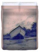 Twilight Boat  Duvet Cover