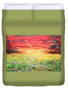 Twilight Bounds Softly Forth On The Wildflowers Duvet Cover