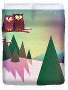 Twilight In The Woods Duvet Cover