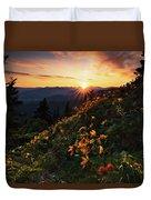 Twilight Of The Balsamroot Duvet Cover