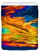 Twilight Of The Day Duvet Cover