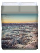 Twilight Over The Painted Desert Duvet Cover