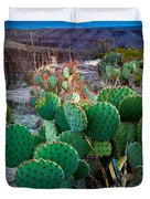 Twilight Prickly Pear Duvet Cover