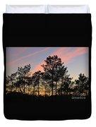 Twilight Tree Silhouettes Duvet Cover