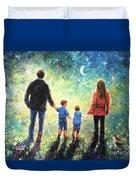 Twilight Walk Family Two Sons Duvet Cover
