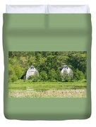 Twin Barns In Spring Duvet Cover