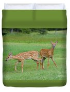 Twin Fawns Playing Duvet Cover