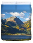 Twin Lakes/twin Peaks Colorado Fall Duvet Cover