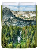 Twin Lakes Waterfall Duvet Cover