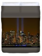 Twin Lights Duvet Cover by Wayne Gill