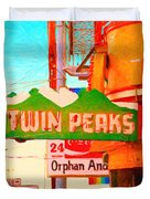 Twin Peaks Gay Bar In San Francisco . Painterly Style Duvet Cover