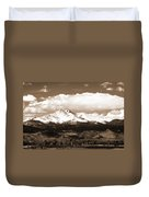 Twin Peaks In Sepia  Duvet Cover
