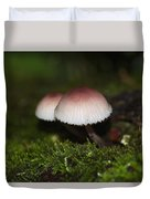 Twin Peaks - Pink And White Mushroom Duo Duvet Cover