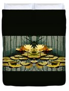 Twin Pond Lillies Duvet Cover
