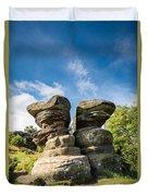 Twin Rocks At Brimham Duvet Cover