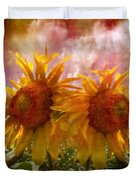 Twin Sunflowers Duvet Cover