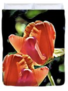 Twin Tulips Duvet Cover