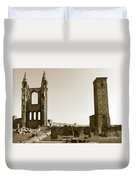 Twin Turrets And St. Rule's Tower Duvet Cover