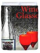 Twink Wine Glasses Duvet Cover