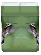 Twins Card - Hummingbirds Duvet Cover