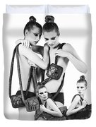 Twins Model Agency Duvet Cover by ISAW Company