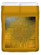 Twirl Art Yellow  Duvet Cover