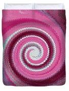 Twirl Pink  Duvet Cover