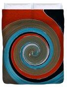 Twirl Red 01 Duvet Cover