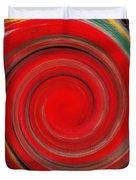 Twirl Red-0951 Duvet Cover