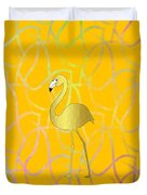 Twist And Turn Flamingo Duvet Cover