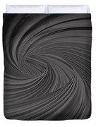 Twist To Black  - Black And Gray Art Duvet Cover