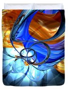 Twisted Spiral Abstract Duvet Cover