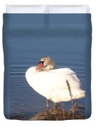 Twisted  White Swan Duvet Cover