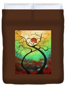 Twisting Love II Original Painting By Madart Duvet Cover