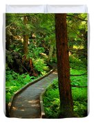 Twisting Path Through The Woods Duvet Cover
