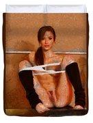 Twisty Girl Duvet Cover