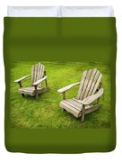 Two Adirondack Chairs Duvet Cover