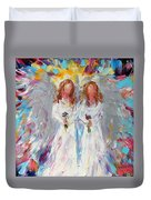 Two Angels Duvet Cover