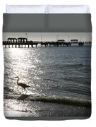 Two Anglers At Fort De Soto Duvet Cover