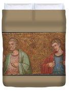 Two Apostles   Fragment Of Predella   Duvet Cover