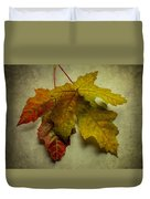 Two Autumn Leaves Duvet Cover