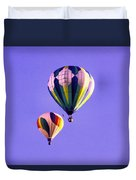 Two Balloons In The Clear Blue Sky  Duvet Cover