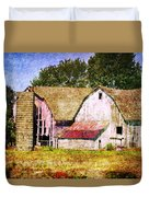 Two Barns And A Silo Duvet Cover