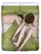 Two Bathers On The Grass Duvet Cover