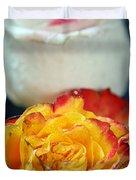Two Beautiful Roses Duvet Cover