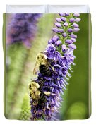 Salvia With Bees Duvet Cover
