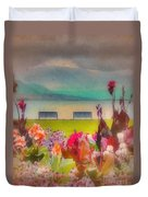 Two Benches Duvet Cover