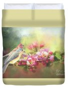 Two Birds Admiring The View Duvet Cover